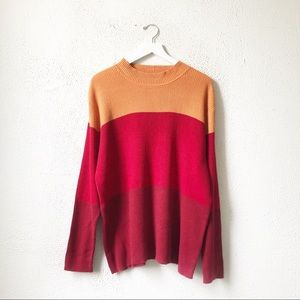 Vintage Faded Glory Color Block Oversized Sweater